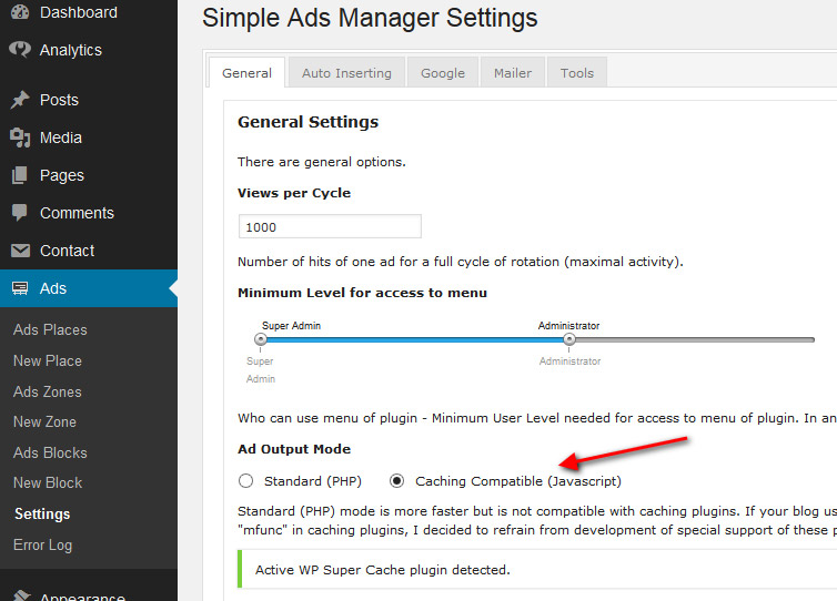 simple-ads-manager-cache-compatible-settings