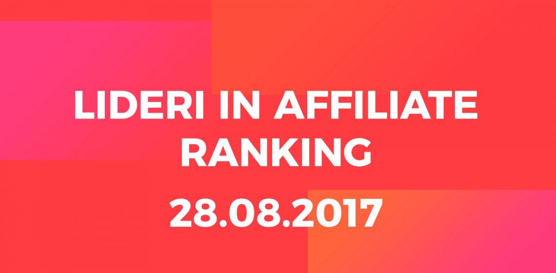 Affiliate ranking top affiliates 28.08.2017